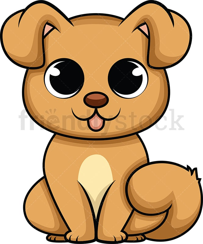 Cute Baby Dog Cartoon Vector Clipart Friendlystock