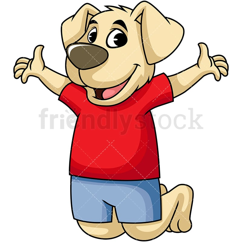 Happy Dog Mascot Cartoon Vector Clipart Friendlystock