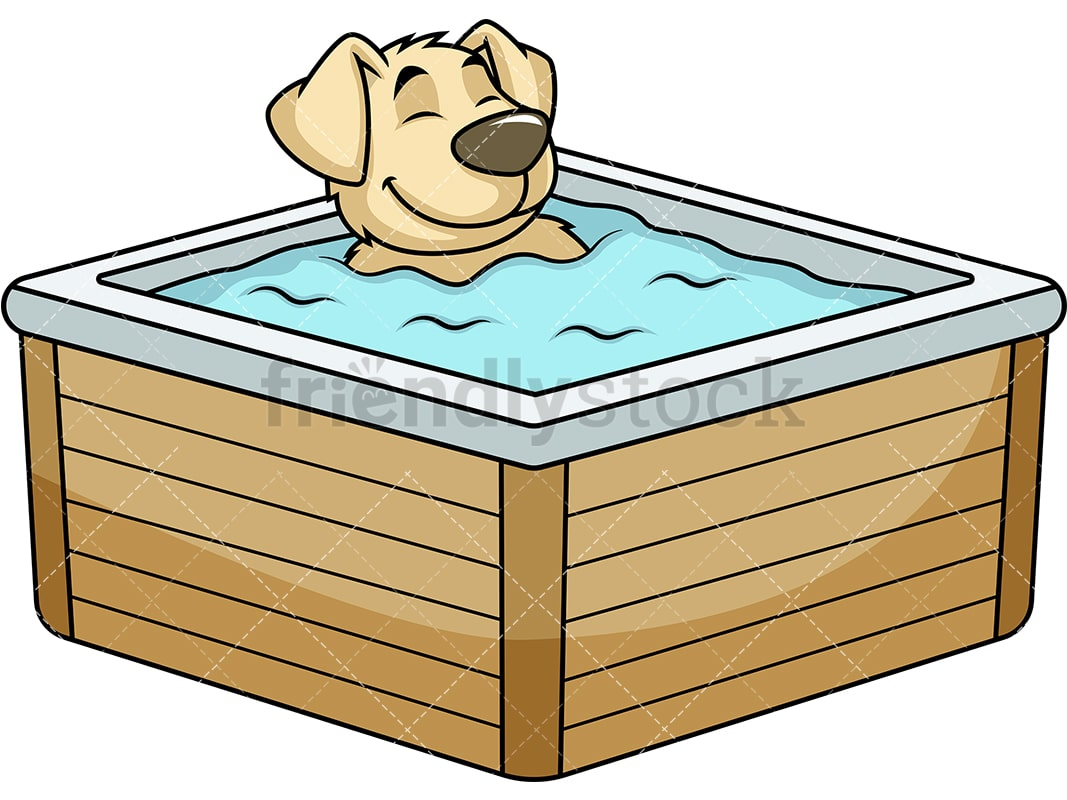 Dog In Hot Tub Clip Art