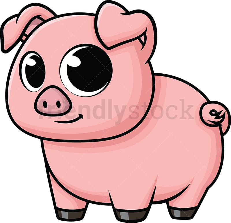 cute baby pig cartoon vector clipart friendlystock