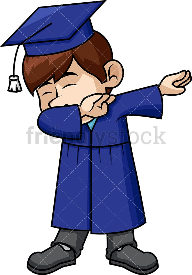 Male Graduate Doing The Dab PNG