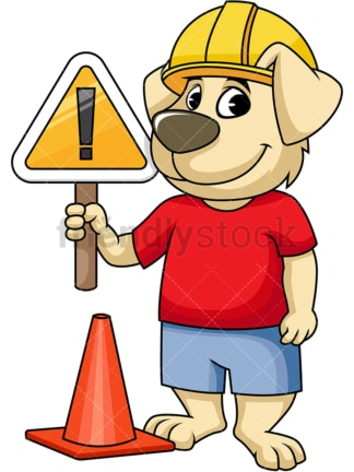 Dog engineer under construction. PNG - JPG and vector EPS (infinitely scalable). Image isolated on transparent background.