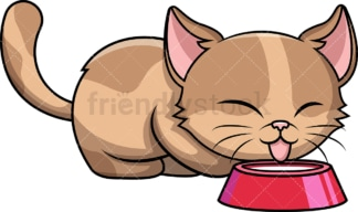 Cat drinking milk. PNG - JPG and vector EPS (infinitely scalable). Image isolated on transparent background.
