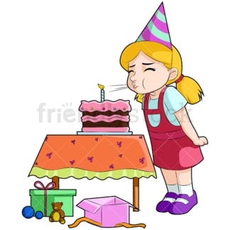 Birthday girl. PNG - JPG and vector EPS (infinitely scalable). Image isolated on transparent background.