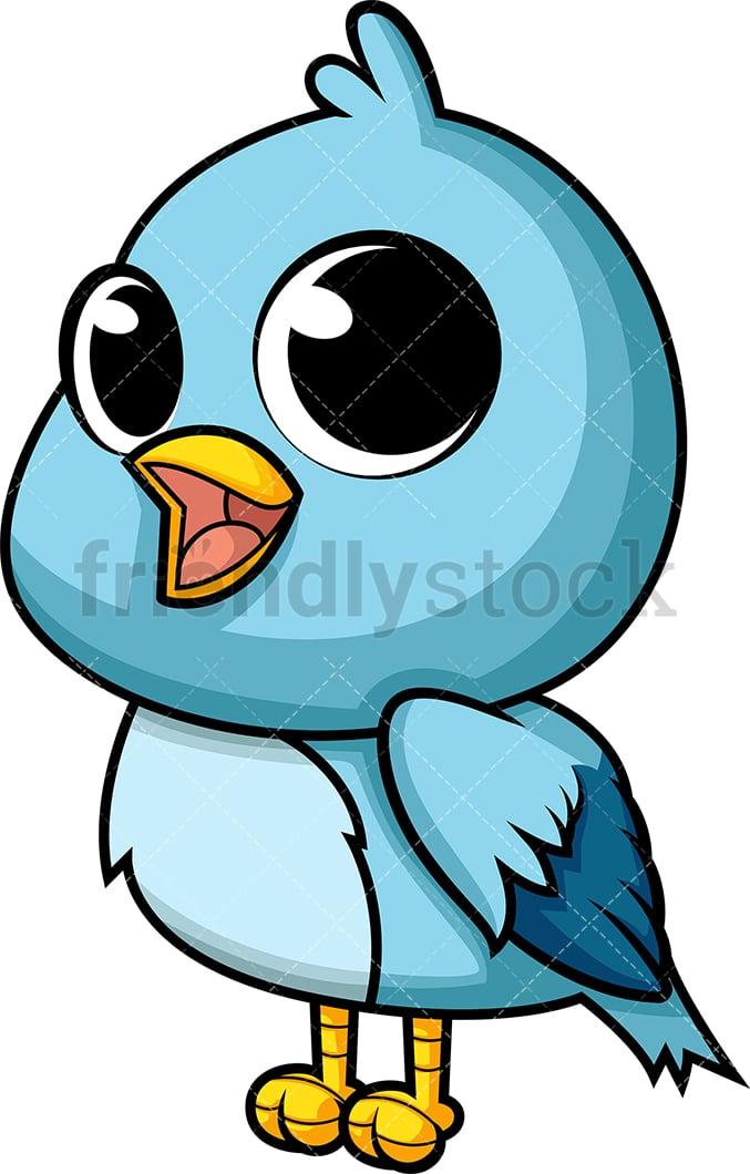 Cute Baby Bird Cartoon Vector Clipart Friendlystock