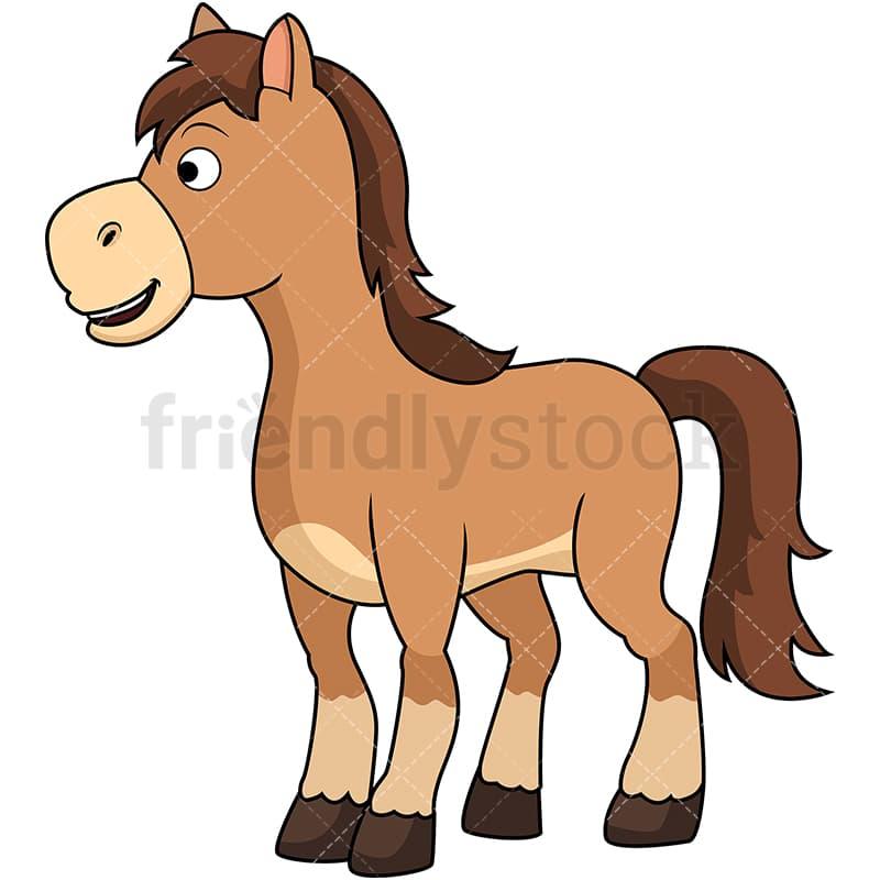 cute horse cartoon vector clipart friendlystock rh friendlystock com Cute Bear Clip Art Cute Animal Clip Art