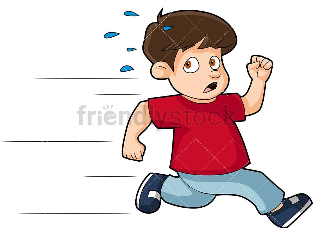 scared little boy running away cartoon vector clipart friendlystock rh friendlystock com little boy running clipart boy running clipart images