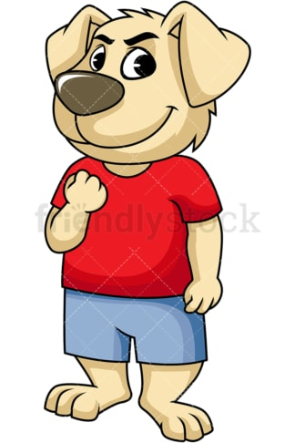 Confident dog cartoon character. PNG - JPG and vector EPS (infinitely scalable). Image isolated on transparent background.
