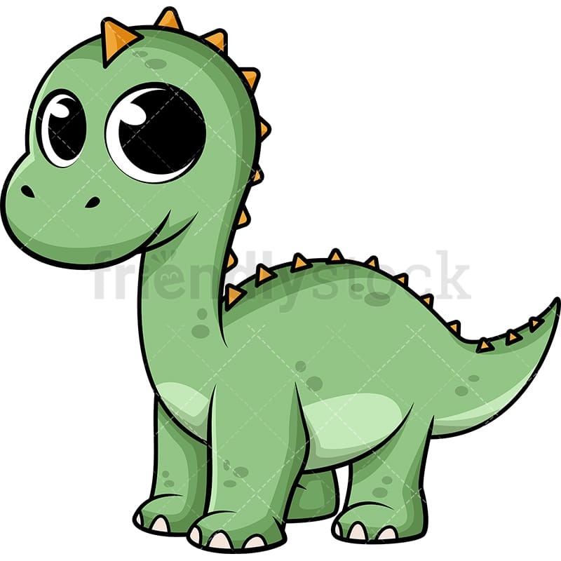 Image of: Little Dino Cute Baby Dinosaur Vector Cartoon Clipart Friendlystock Cute Baby Dinosaur Cartoon Vector Clipart Friendlystock