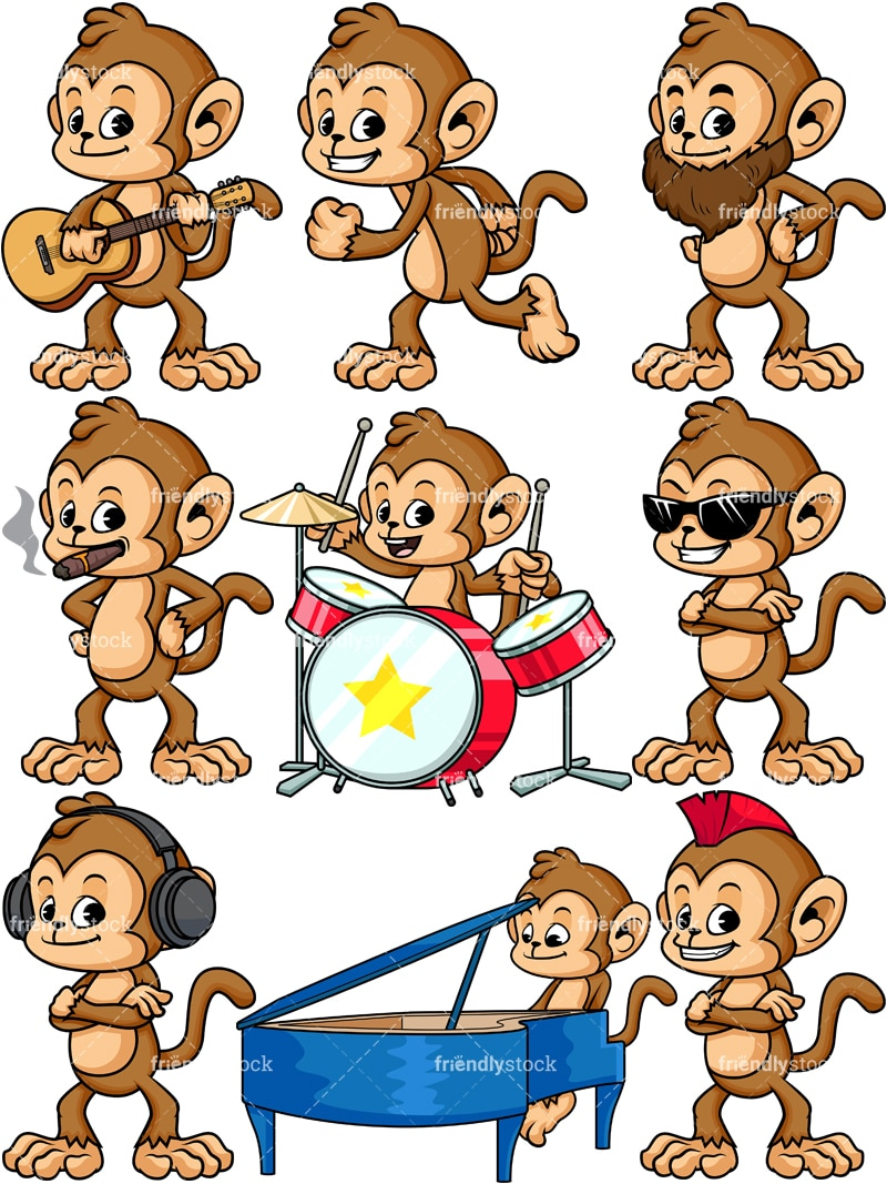 cartoon monkey clipart friendlystock