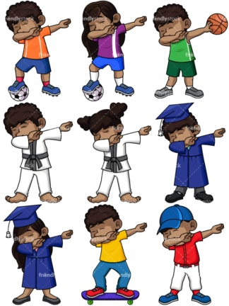 Dabbing collection 14. PNG - JPG and vector EPS file formats (infinitely scalable). Images isolated on transparent background.