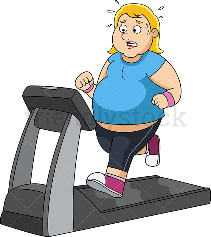 Fat Woman On Treadmill - Adult Archive-6567