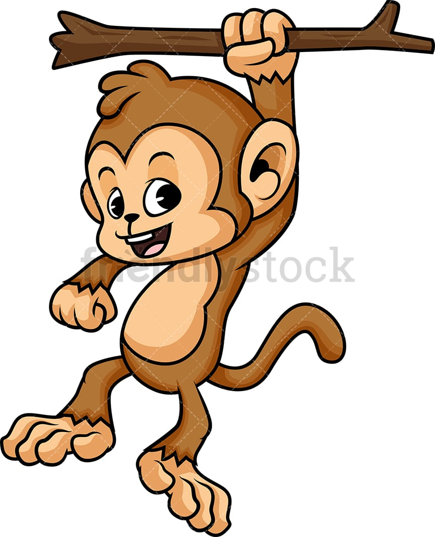 Monkey Hanging From Tree Cartoon Vector Clipart Friendlystock All of these cartoon baby monkey in tree monkeys cartoon clip art resources are for download on 123clipartpng. monkey hanging from tree cartoon vector clipart friendlystock