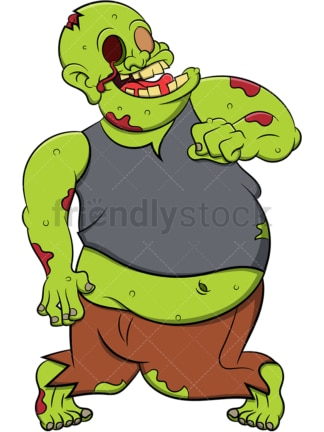 Chubby zombie. PNG - JPG and vector EPS (infinitely scalable). Image isolated on transparent background.