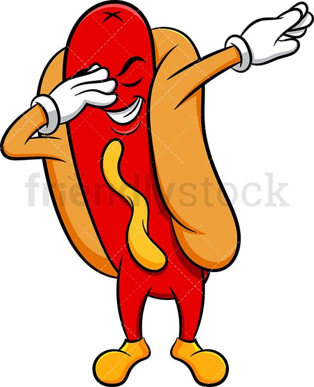 Dabbing Hot Dog Sandwich Cartoon Vector Clipart Friendlystock