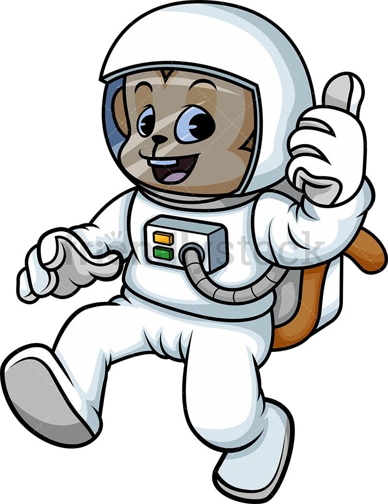 monkey astronaut cartoon vector clipart friendlystock rh friendlystock com clip art astronaut humor clipart astronaut holding flag