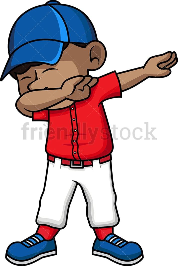 d3fb7b2cb6e Black Kid Dabbing Cartoon Vector Clipart - FriendlyStock