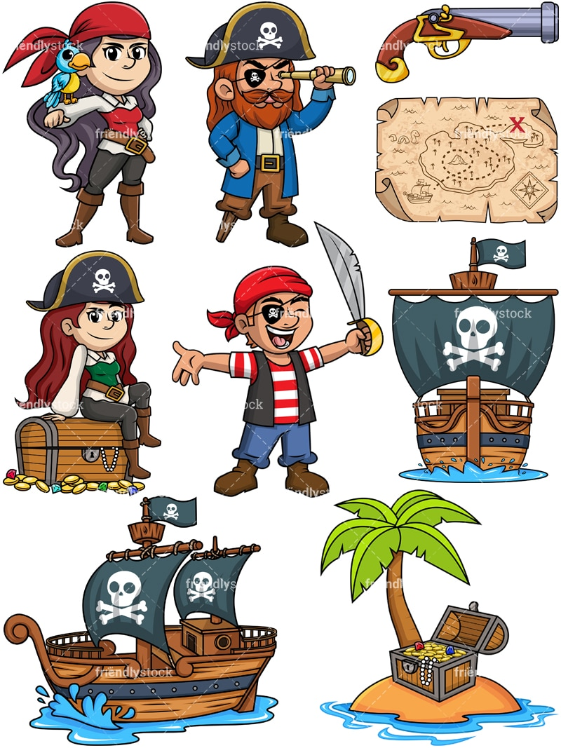 Pirates Clipart Collection In Vector Format Friendlystock