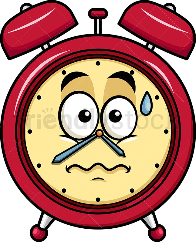 Anxious Alarm Clock Emoji
