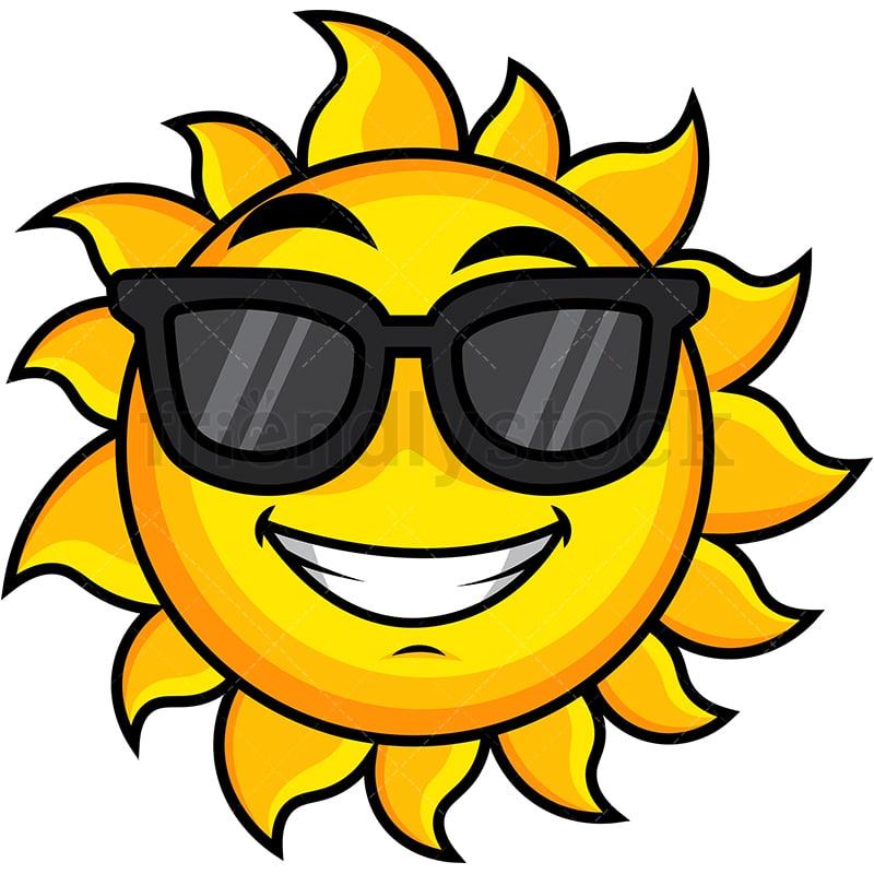 Cool Sun Wearing Sunglasses Emoji