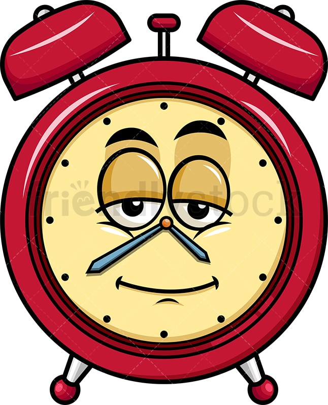 Sleepy Alarm Clock Emoji