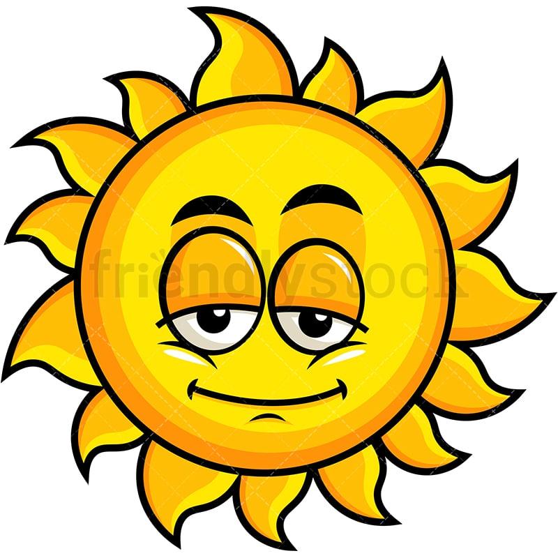 Sleepy Sun Emoji