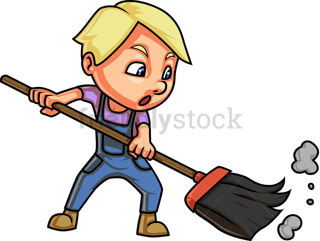 little kid sweeping cartoon clipart vector friendlystock little kid sweeping cartoon clipart vector friendlystock