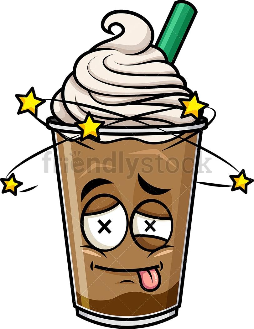 Beaten Up Iced Coffee Emoji