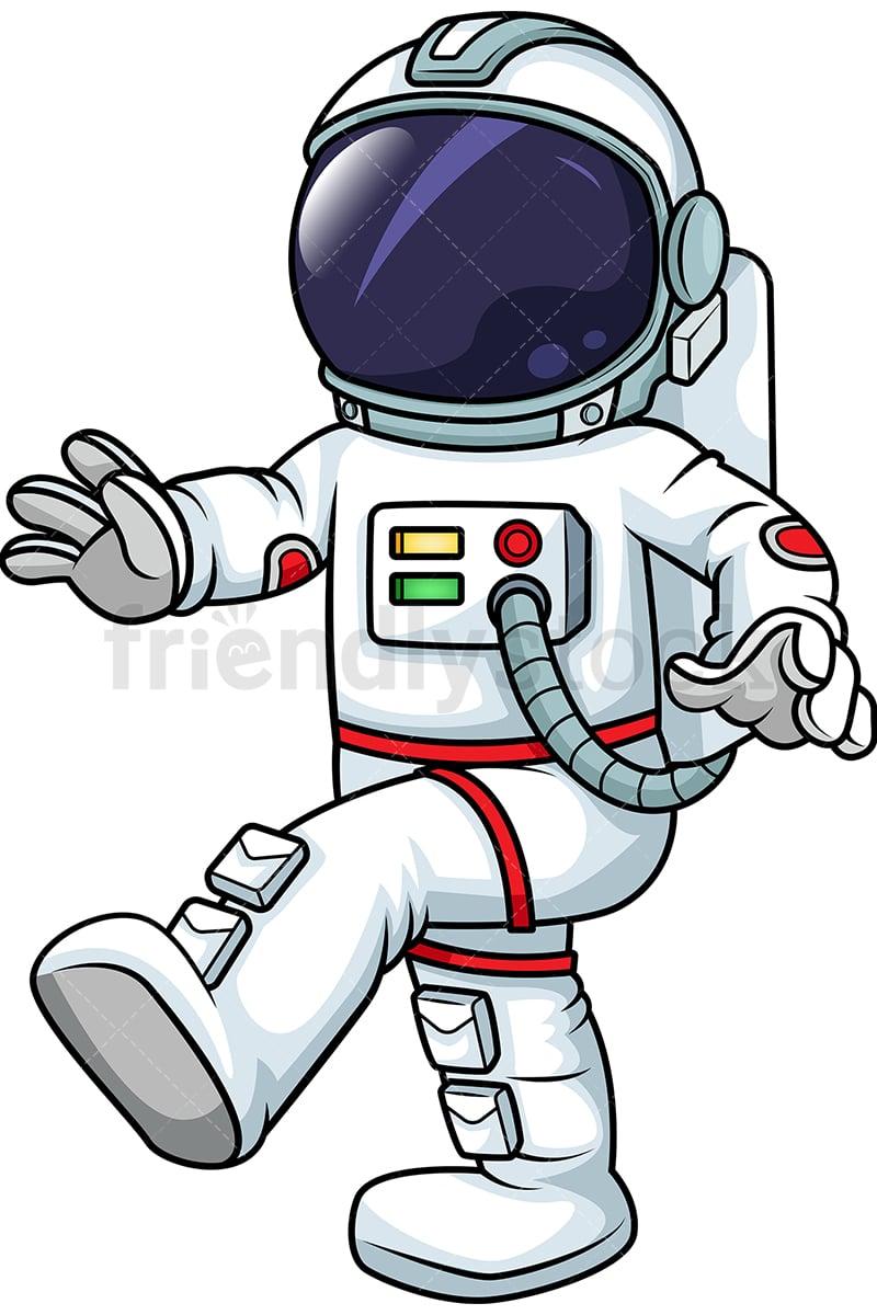 male astronaut walking in zero gravity cartoon vector clipart rh friendlystock com clipart astronaut with flag boy clip art astronaut humor