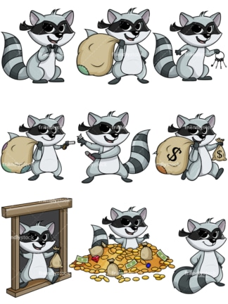 Raccoon bandit. PNG - JPG and vector EPS file formats (infinitely scalable).