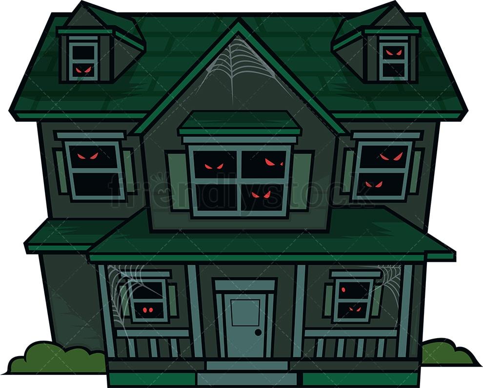 Haunted House Cartoon Vector Clipart Friendlystock