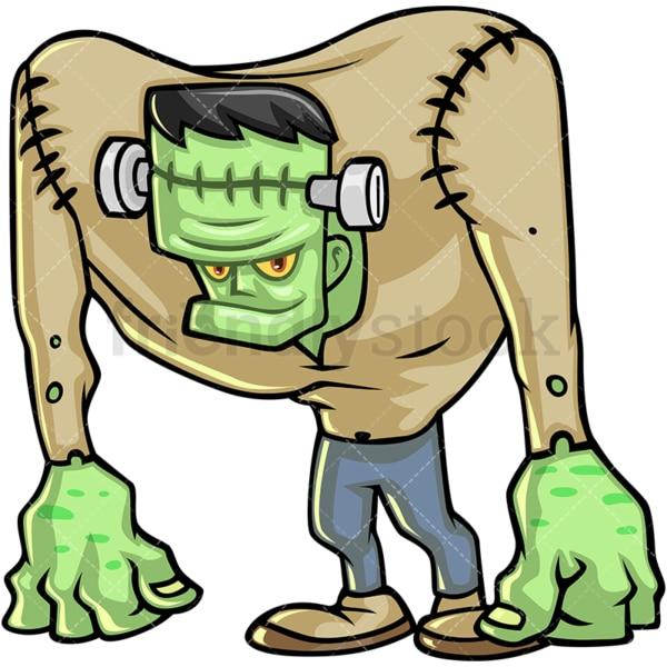 Frankenstein monster cartoon character. PNG - JPG and vector EPS (infinitely scalable).