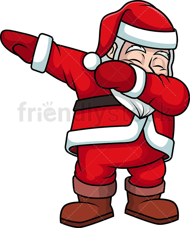 dabbing santa claus cartoon clipart vector friendlystock dabbing santa claus cartoon clipart vector friendlystock