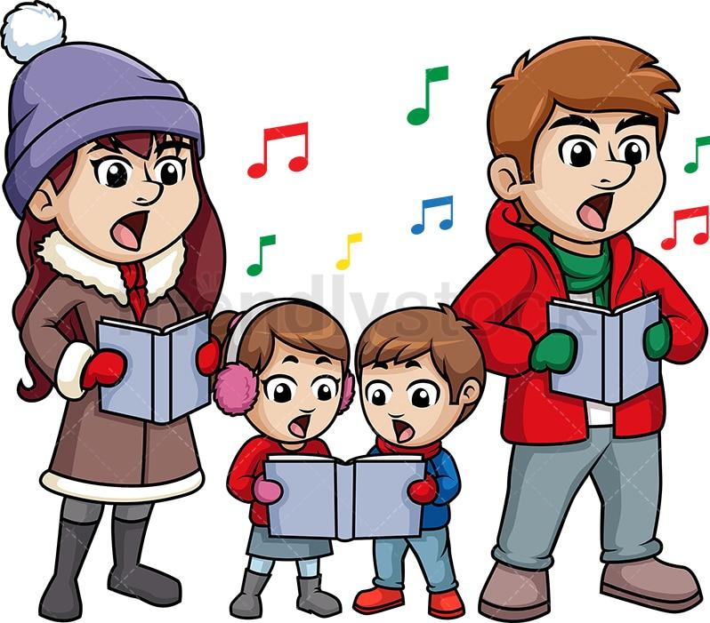 Christmas Singing Images.Family Singing Christmas Carols