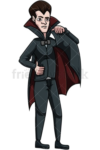 Count dracula. PNG - JPG and vector EPS file formats (infinitely scalable). Image isolated on transparent background.