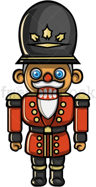 Wooden nutcracker soldier toy doll. PNG - JPG and vector EPS file formats (infinitely scalable).