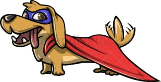Sausage dog superhero. PNG - JPG and vector EPS (infinitely scalable).