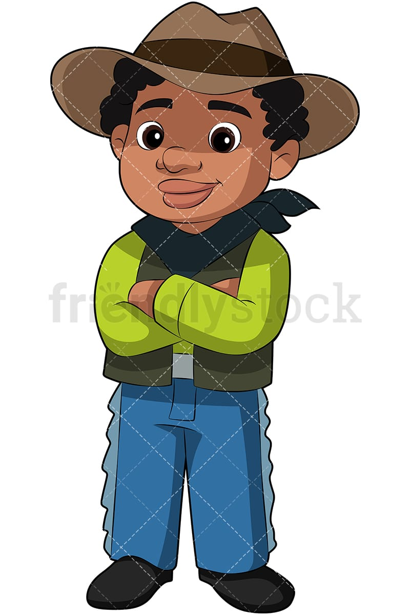Black Boy In Cowboy Costume Cartoon Vector Clipart Friendlystock Six thinking hats red hat enterprise linux fedora, cartoon cowboy hat png. black boy in cowboy costume cartoon vector clipart friendlystock