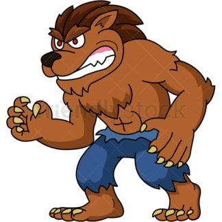 Evil werewolf. PNG - JPG and vector EPS (infinitely scalable).