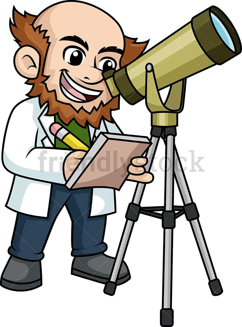astronomer looking through telescope cartoon clipart vector friendlystock astronomer looking through telescope cartoon clipart vector friendlystock