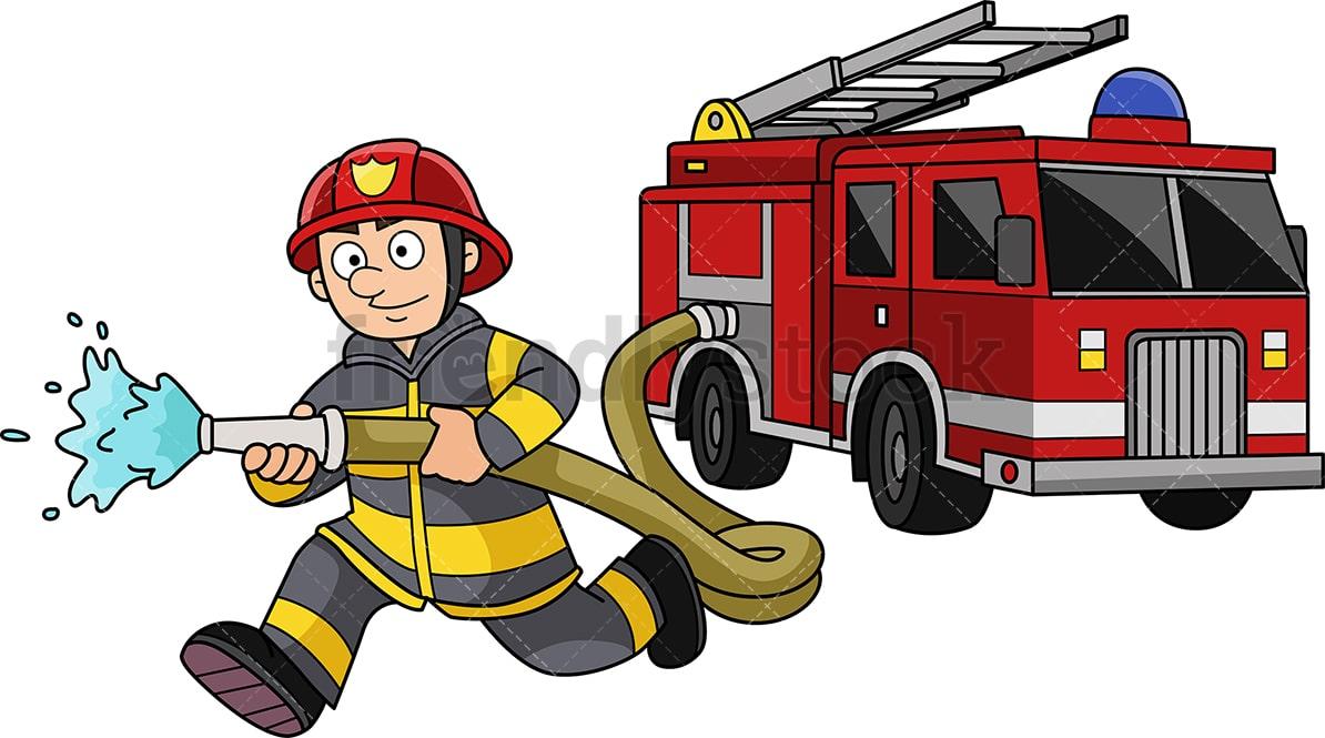 Firefighter Clipart  Fire Fighter  Fireman  Fire Engine  Fire Truck