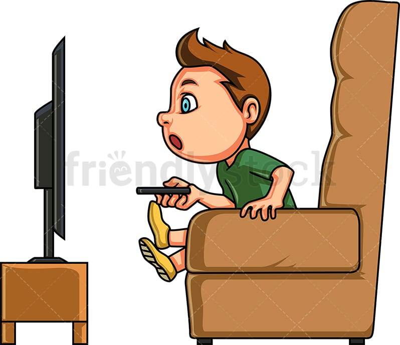 Little Boy Watching Tv Cartoon Clipart Vector Friendlystock Browse this featured selection from the web for use in websites, blogs, social media and your other products. little boy watching tv cartoon clipart vector friendlystock