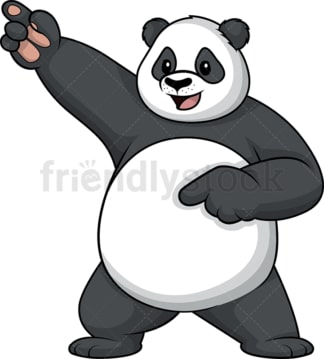 Panda dancing. PNG - JPG and vector EPS (infinitely scalable).