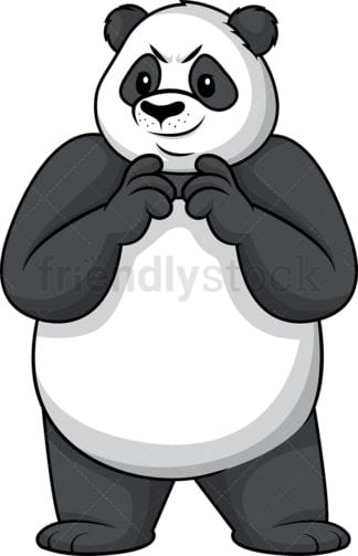 Evil panda plotting. PNG - JPG and vector EPS (infinitely scalable).