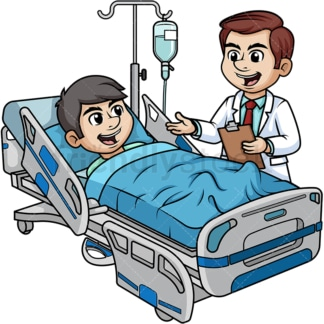 Doctor talking to patient. PNG - JPG and vector EPS (infinitely scalable).