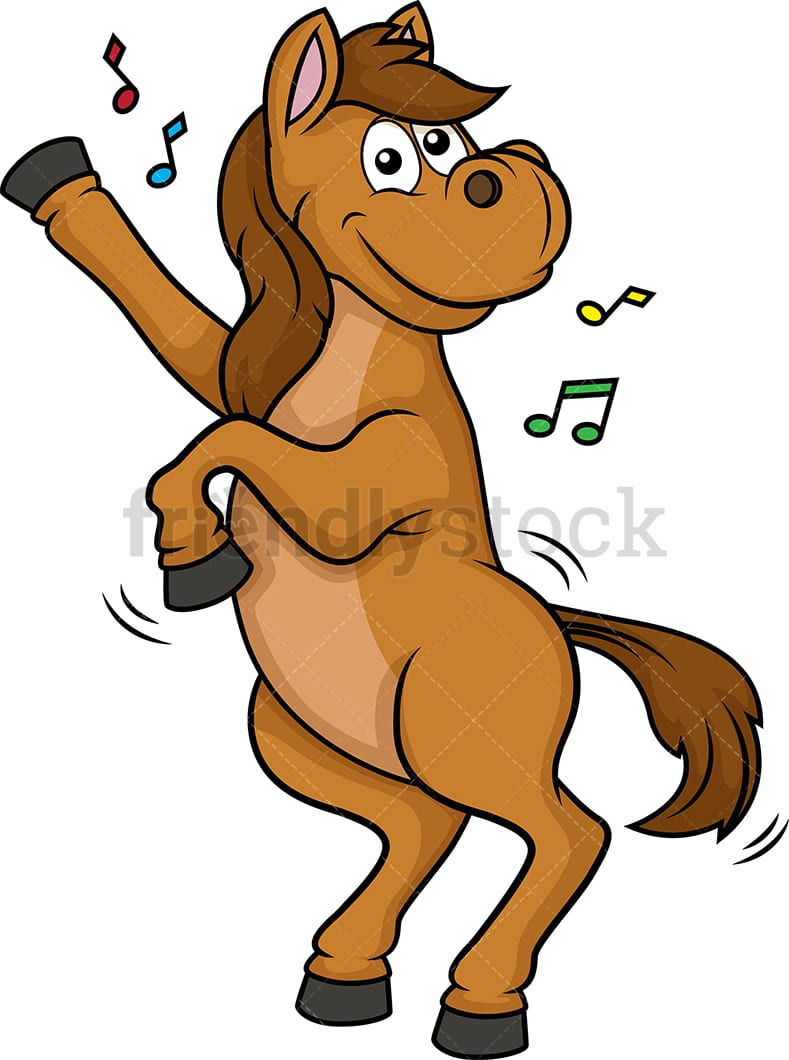 Horse Dancing Cartoon Clipart Vector Friendlystock