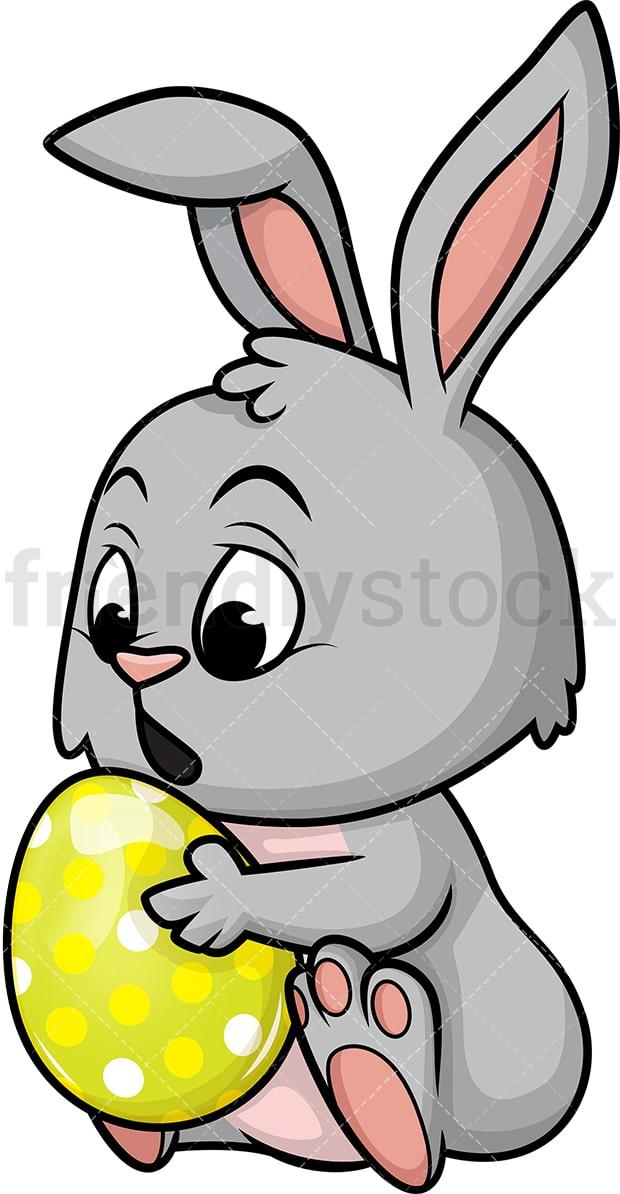 Cute Easter Bunny Cartoon Vector Clipart Friendlystock
