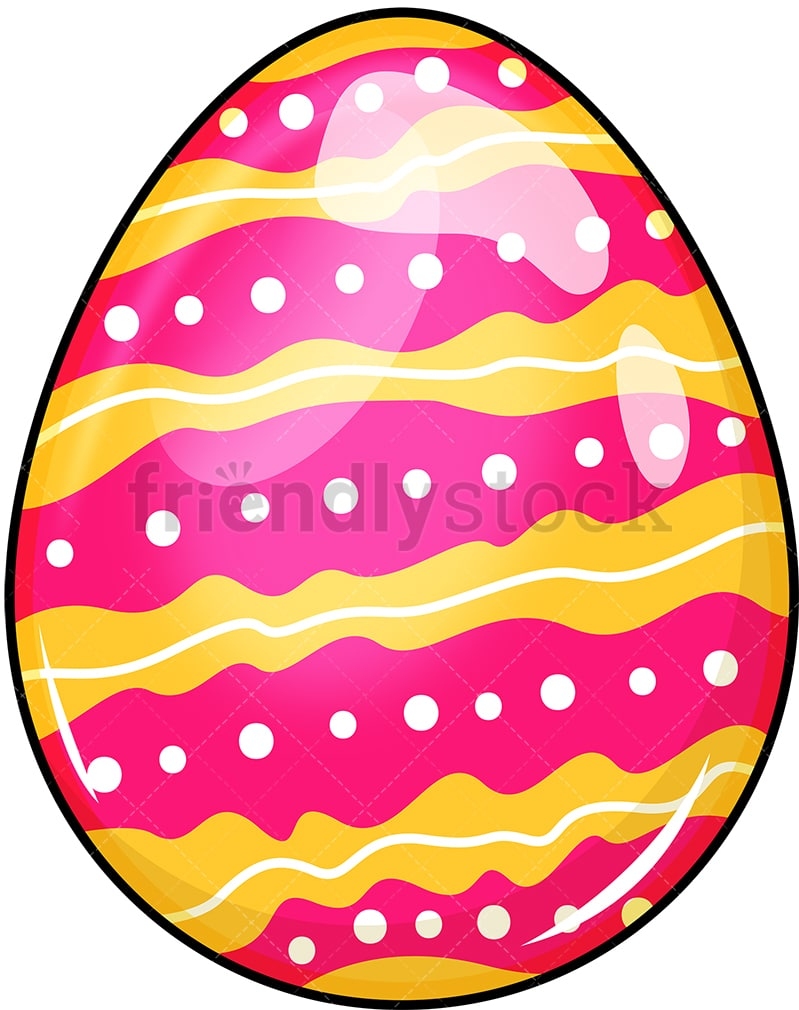 Decorated Easter Egg Cartoon Vector Clipart Friendlystock
