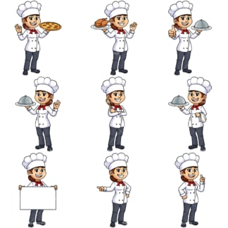 Female chef. PNG - JPG and vector EPS file formats (infinitely scalable).