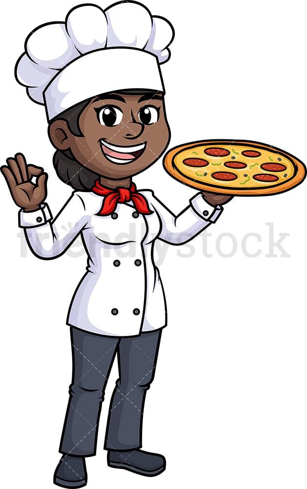 Vector Cartoon Von Küchenchef Pizza Backen Im Ofen Lizenzfrei Nutzbare  Vektorgrafiken, Clip Arts, Illustrationen. Image 13840531.